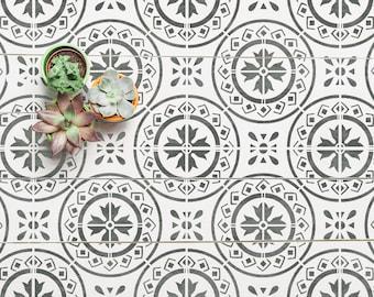 MORELLO Mediterranean Tile Stencil - Floor Wall Furniture Tile Stencil - MORE01