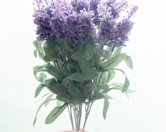 Faux Silk Lavender Bush