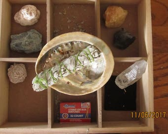 Gemstones / Rocks and Incense Box Smudge Kit