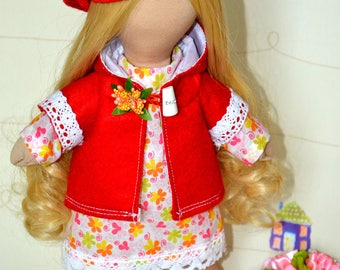 "Handmade Doll. 14 ""(36 см) Waldorf Doll Baby Girl. Interior Doll. Toy Doll."