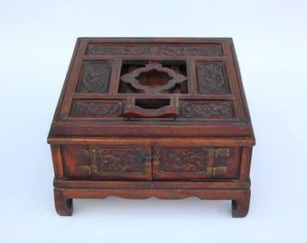 N4090 Vintage Chinese Zitan Wood Easel
