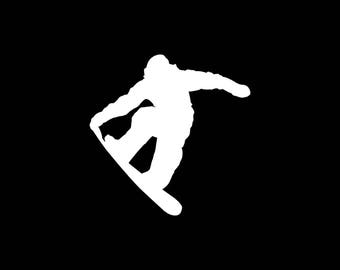 Snowboarding Decal Snowboarding Car Decal Snowboarder Vinyl Decal Yeti Cooler Snowboard Sticker Laptop Tablet Wall Decal Love Snowboarding