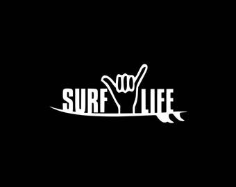 Surf Decal Etsy