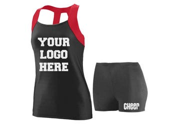 Cheer Practice Set Your Logo RED TANK