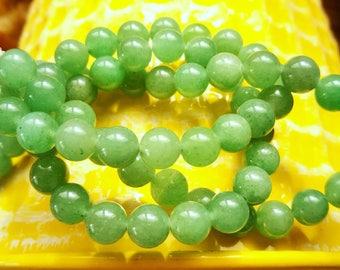 set of 10 beads green AVENTURINE 6 mm stone natural grade AAA