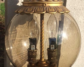 Vintage Hanging Light/reconditioned/country Cottage/french Country/bar Light