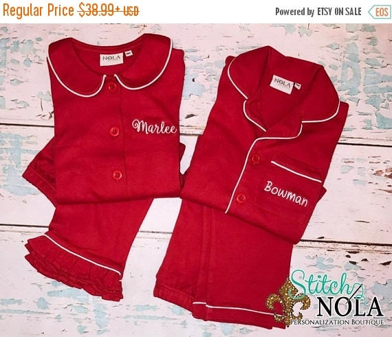 ON SALE Ships Fast Children's Christmas Lounge Wear, XMAS Lounge Wear, Xmas Outfit, Christmas Morning Lounge Wear, Boy Lounge Wear, Girl Lou