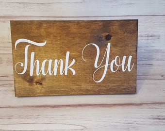 Thank You - Wooden Wedding Sign