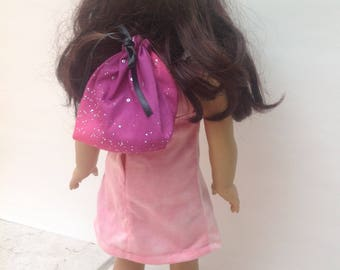 Doll Lined Drawstring Backpack