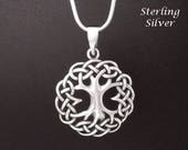 Tree of Life Necklace: Fabulous Celtic Sterling Silver Tree of Life Necklace Pendant | Gifts for Women, Celtic Jewellery, Pendant TOLP134