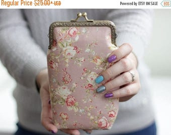 SALE iPhone 7 Plus wallet Rose gold, Floral iPhone 6s Wallet, Roses phone case, iPhone 6s wallet Roses iPhone 7 Wallet, Gift for her Easter