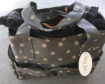 Extra Large Knitting Project Bag, Zipper Knitting Tote, by Hobby Gift, # 30099 Tote Bag, Holds Lots of Supplies, Needles, Multiple Projects