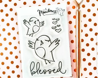 Praising Birds Mini Stamps Christian Scrapbooking Stamping Bible Journaling Blessed Worship Bird Sing Singing Growing Meadows Tai Bender