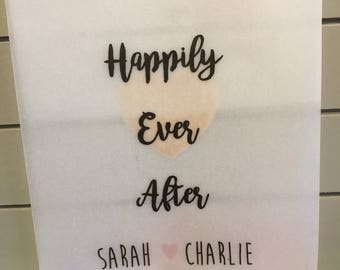 Personalised Happily Ever After Confetti Bags Pack of 10