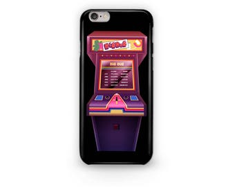 Dig Dug Phone Case Design from the Stranger Things Universe with Mike, Dustin, Lucas, Will, Eleven, and Max Arcade Game Dig Dug Madmax