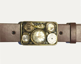 Time Files Buckle and Belt Strap