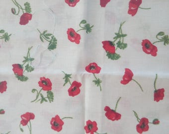 Lot 2 coupons poppy pattern