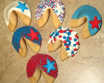 12 U.S. STARS Fortune Cookies, 4th of July, Army, Birthday, Corporate, Congratulations, Graduation, Patriotic, Military, Navy, Air Force