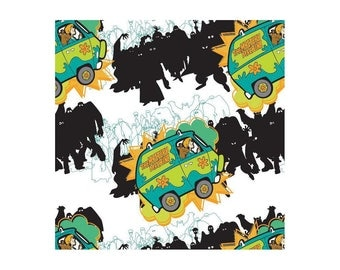 Scooby Doo Mystery Machine Cotton Fabric by the Yard