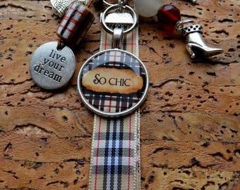 "MINI charm, keychain or purse jewelry ""So!"" chic"""