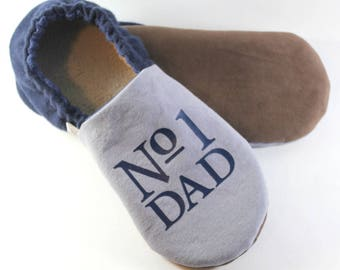 Fathers Day Gift for Dad- Gift for Husband- Dad Gifts- Number One Dad- Hygge Gift- Wool Slippers- Cozy Gift- Personalized Gift for Dad