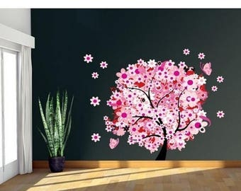 20% OFF Summer Sale Flower Tree wall decal, sticker, mural, vinyl wall art