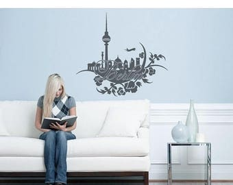 Handmade Floral Wall Decals Etsy - Custom vinyl wall decals falling off