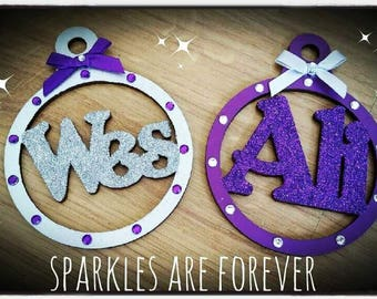 Personalised Christmas Couples Tree Decoration Baubles