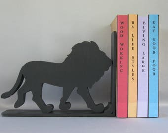 Lion Silhouette Bookend - 19.95