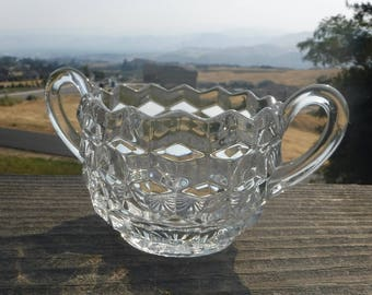 "Fostoria 'American-Clear' Open Sugar Bowl, 3-1/2"" Diameter"