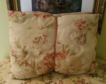 Pair of sweet floral cottage style pillows