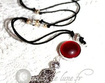 Bola grossesseTintement Bell velvet touch red beads