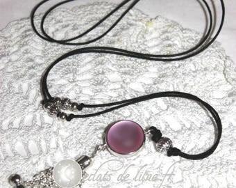 Bola grossesseTintement Bell velvet touch light pink pearls