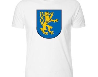 Lion on Shield Woofer Men's White T shirt