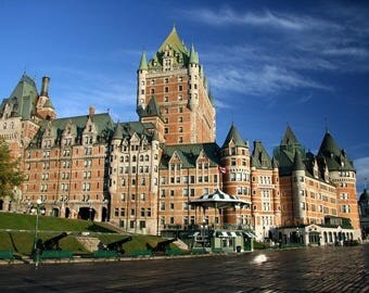 Laminated placemat Chateau Frontenac in Quebec Canada