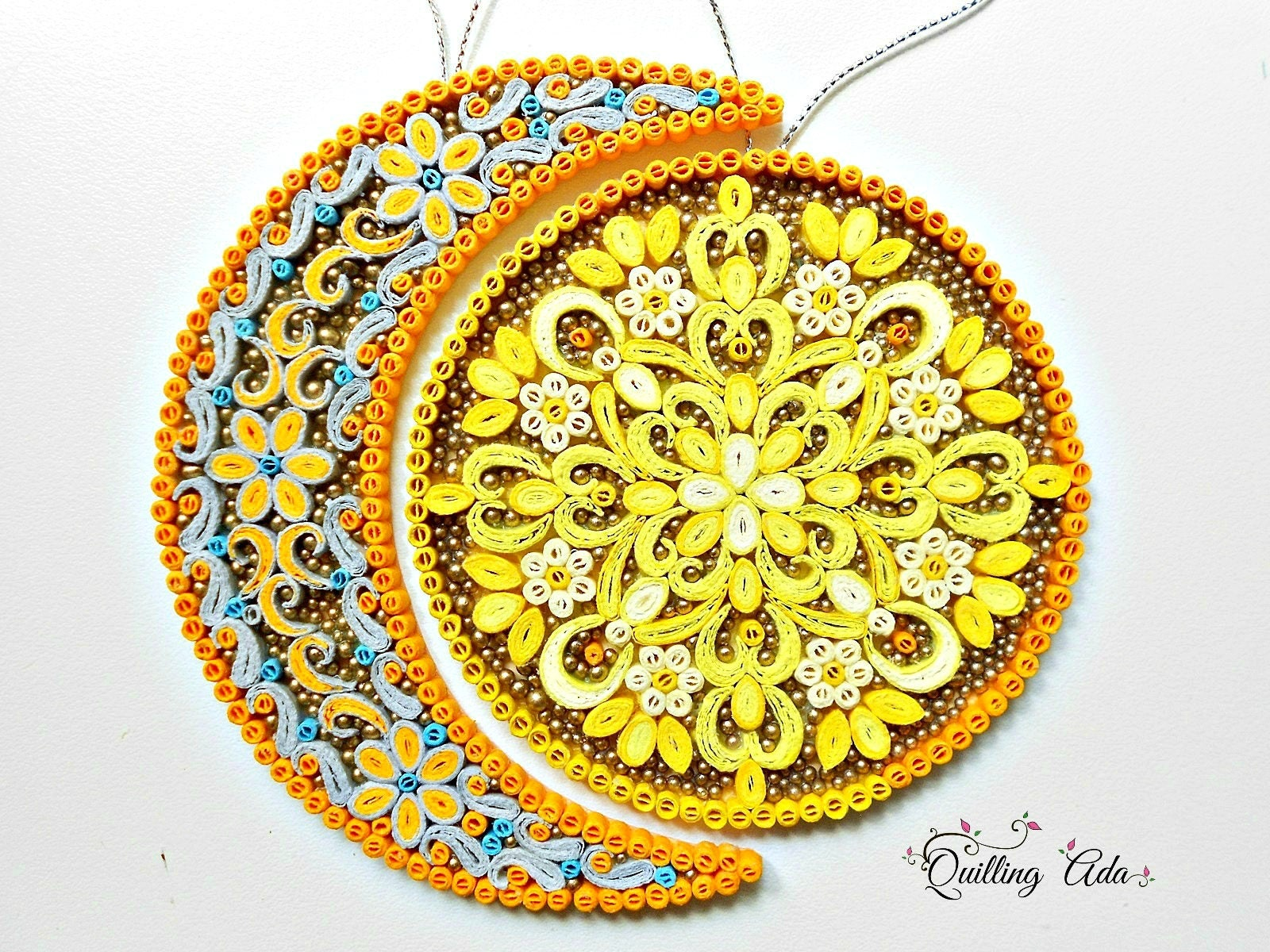 Quilled Sun/ Moon-PaperSun/ Moon-Paper Art-Wall Art-wall decor-gift ...