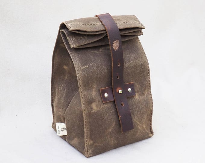 Lunch Bag / Waxed Canvas