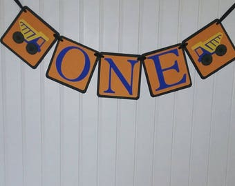 Construction First Birthday Party - Construction One Banner - Blue Truck Themed One banner - Construction Party - Blue Truck Birthday