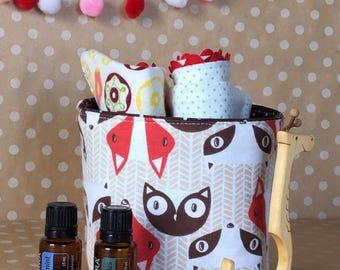 Nursery Storage Caddy. Baby Room Supply Storage. Boy Room Organization. Mini Gift Basket. Baby Boy Gift Basket. Trendy Nursery Decor.