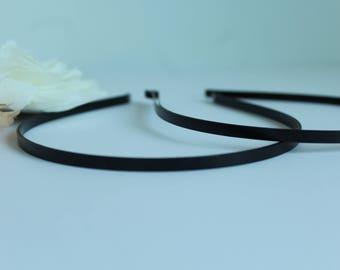 5 mm Black Metal Headbands  / Metal headband 5mm / Nickle-free