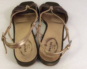 Vintage Prada satin leather size 39.5