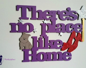 There's no place like Home- wall quote sign (2)