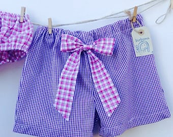Girls ' Board shorts with bow-Cecibirbona