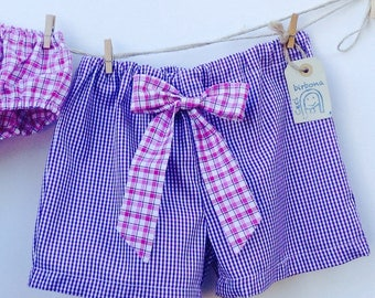 Beach shorts with bow for girls-Cecibirbona