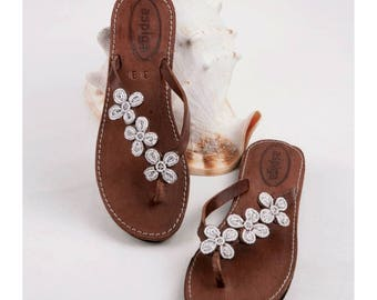 Aspiga Tatu Heel White Leather Sandals