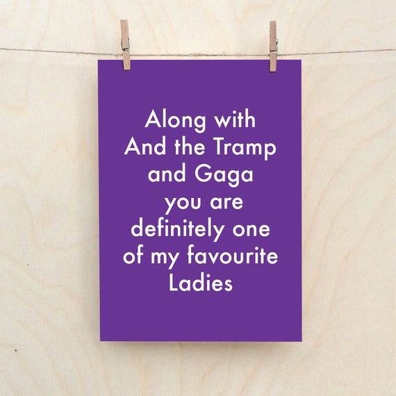 Funny Love Card, Funny birthday card, funny Valentines card, Funny lady card