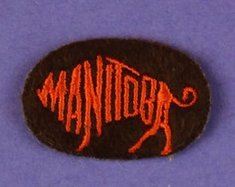 Manitoba Vintage 1970s Patch