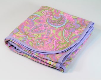 Swaddle Blanket made with Pink Paisley Fabric