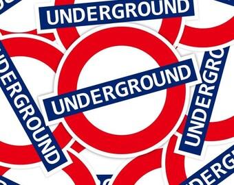London Underground Stickers