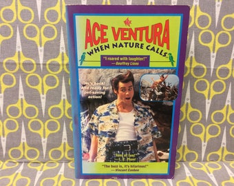 Ace Ventura When Nature Calls by Marc Cerasini Paperback Book movie tie in novelization Vintage